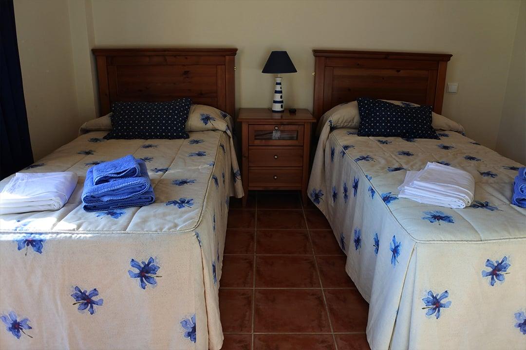 Hacienda Andaluz, yksi makuuhuoneista