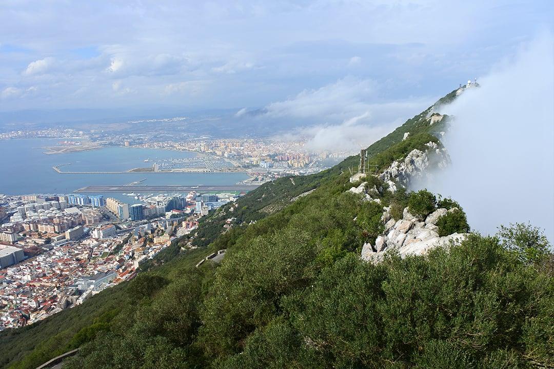 Maisema Gibraltarinvuorelta
