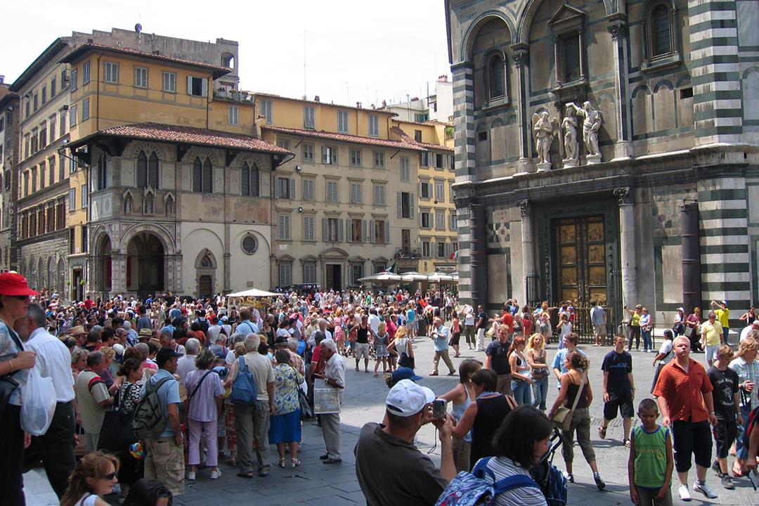 Firenzessä kesähelteellä