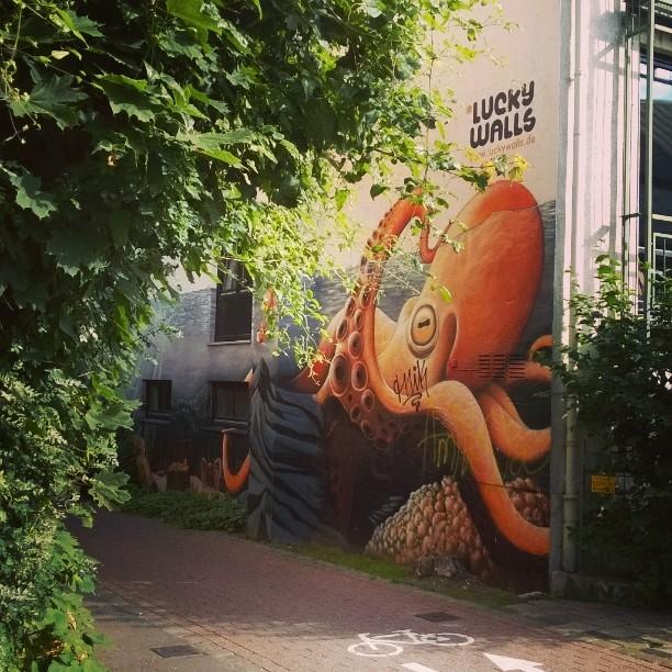 Bremenissä on paljon upeaa katutaidetta.