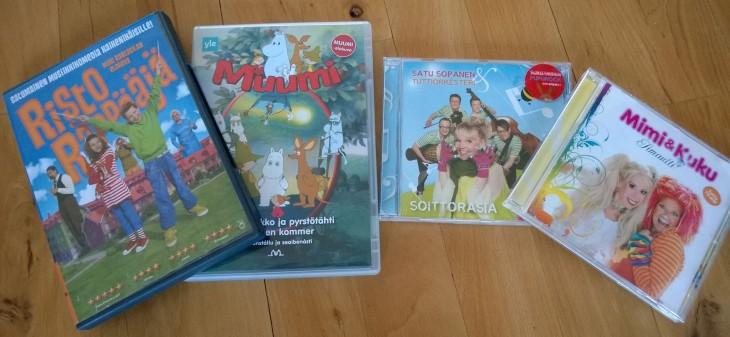 suomenkieliset lastenohjelmat, DVD:t, lasten musiikki ja erilaiset äänikirjat ovat hyvä tapa vahvistaa suomen kielen ymmärtämistä.