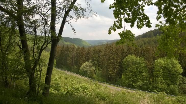 Eifelin ylängöllä on upeat maisemat.