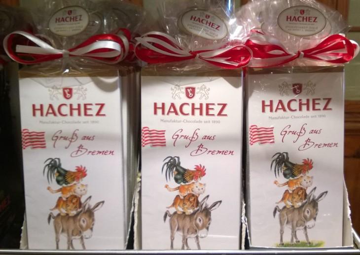 Bremeniläistä perinteistä Hachez -suklaata.