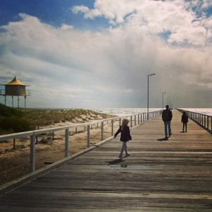 Today we visited at beautiful Semaphore jetty at Port Adelaidehellip