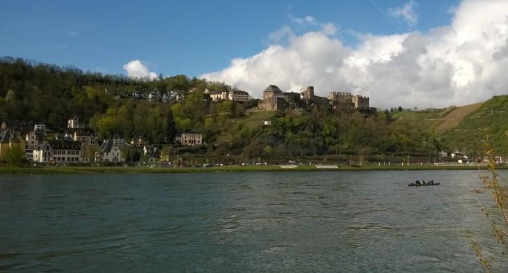Lorelayn alue Keski-Reinillä on melko tuntematonta vielä minulle. Tässä näkymät St Goariin joen toiselta puolelta. Kiva päästä näille seuduille uudestaan!