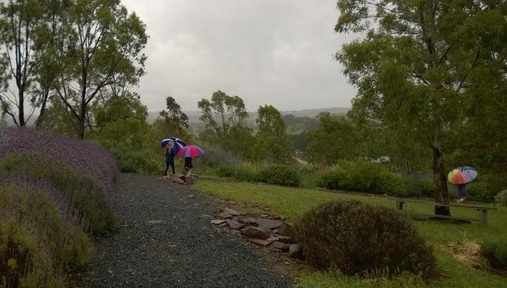 sateinen sää lokakuu australia
