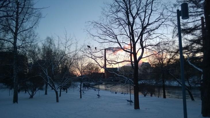 talvinen koskipuisto