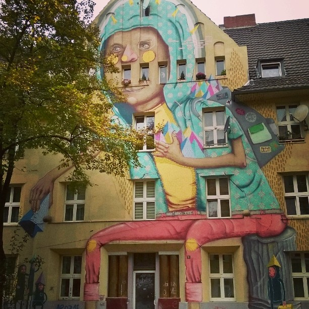 Very impressive murals at Dsseldorf kieferstrasse streetart mural graffiti visitduesseldorfhellip