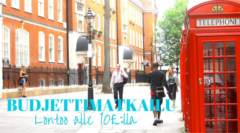 Budjettimatkailijan Lontoo