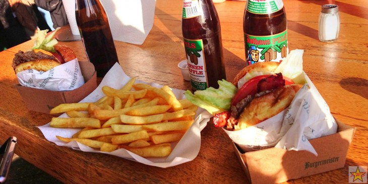 Burgermeisteristä saa mahtavata aidot grillimätöt ja päälle vielä kylmät paikalliset huurteiset.