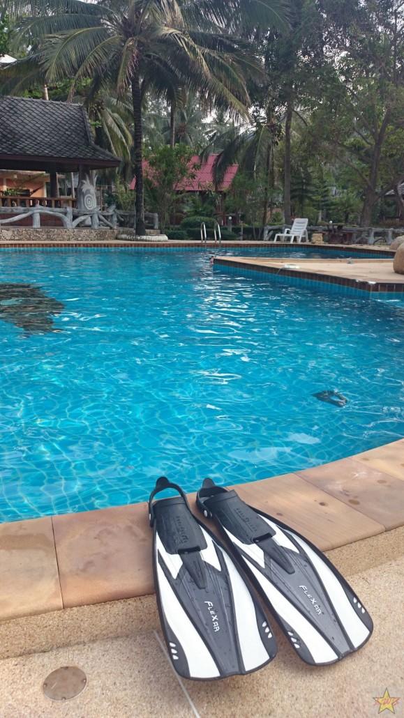 Uima altaassa oli mukava räpylöidä, sillä siellä oli vain harvoin muita uimassa samaan aikaan.