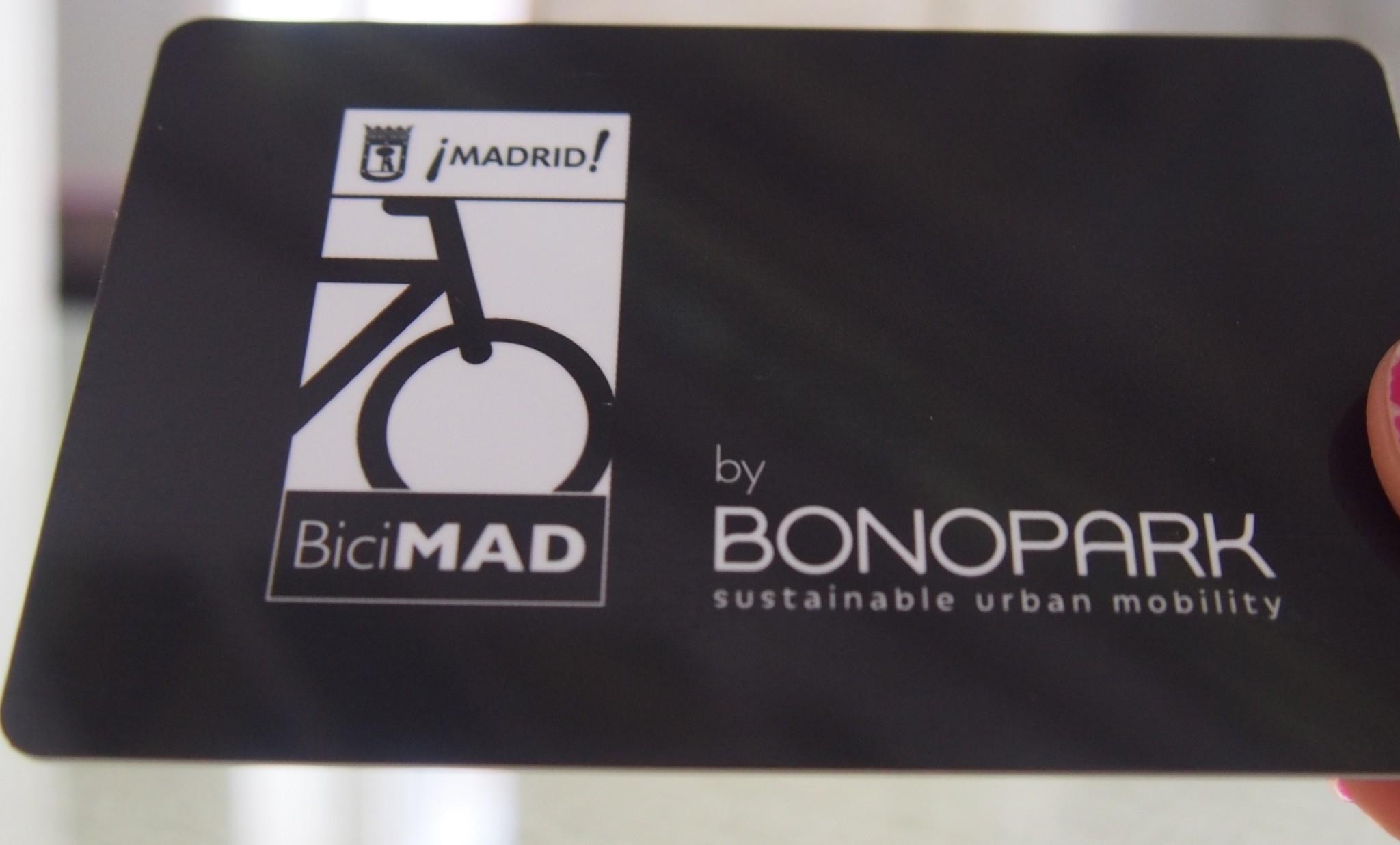 BiciMad päiväkortti