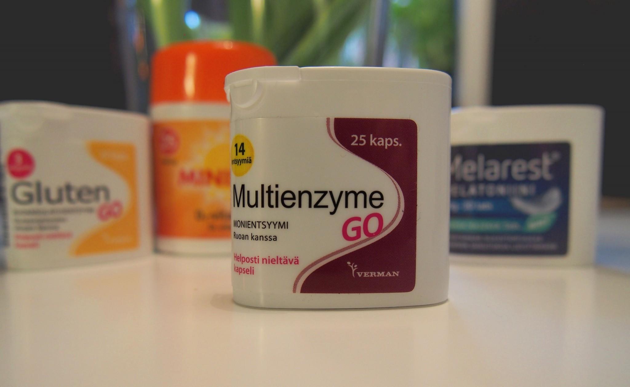 Multienzyme go vatsaoireisiin matkalla
