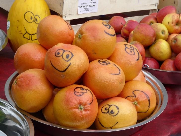 hymyilevät hedelmät