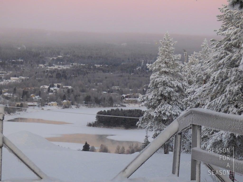 Rovaniemi Ounasvaara talvimaisema
