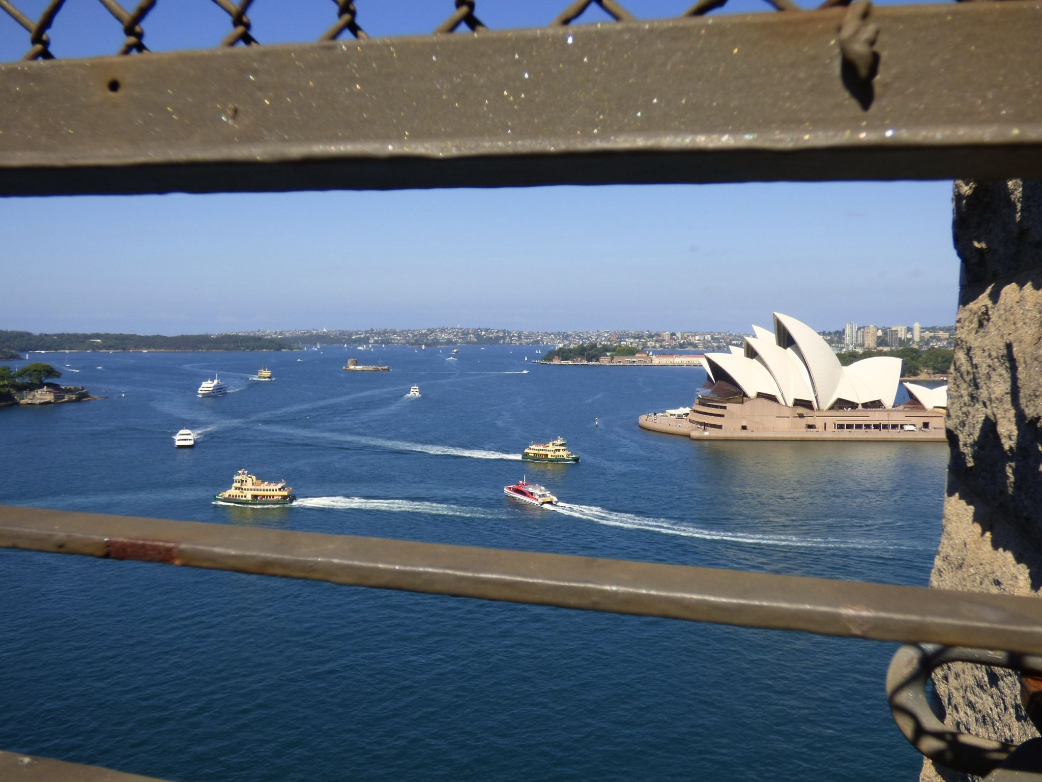 Harbour Bridge ja ooppertalo Sydney