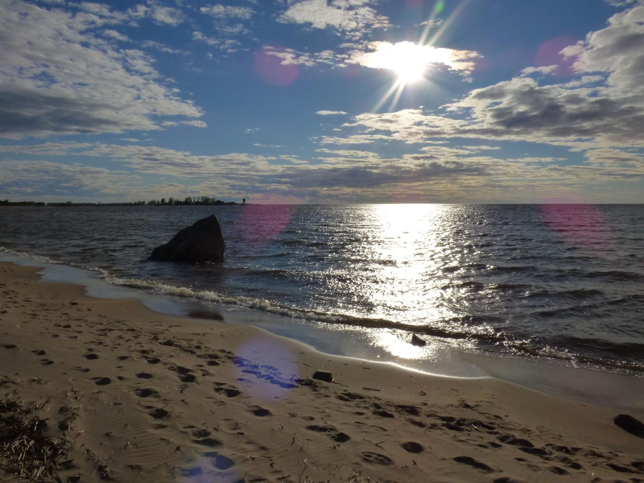Auringonlasku Kalajoen Hiekkasärkät