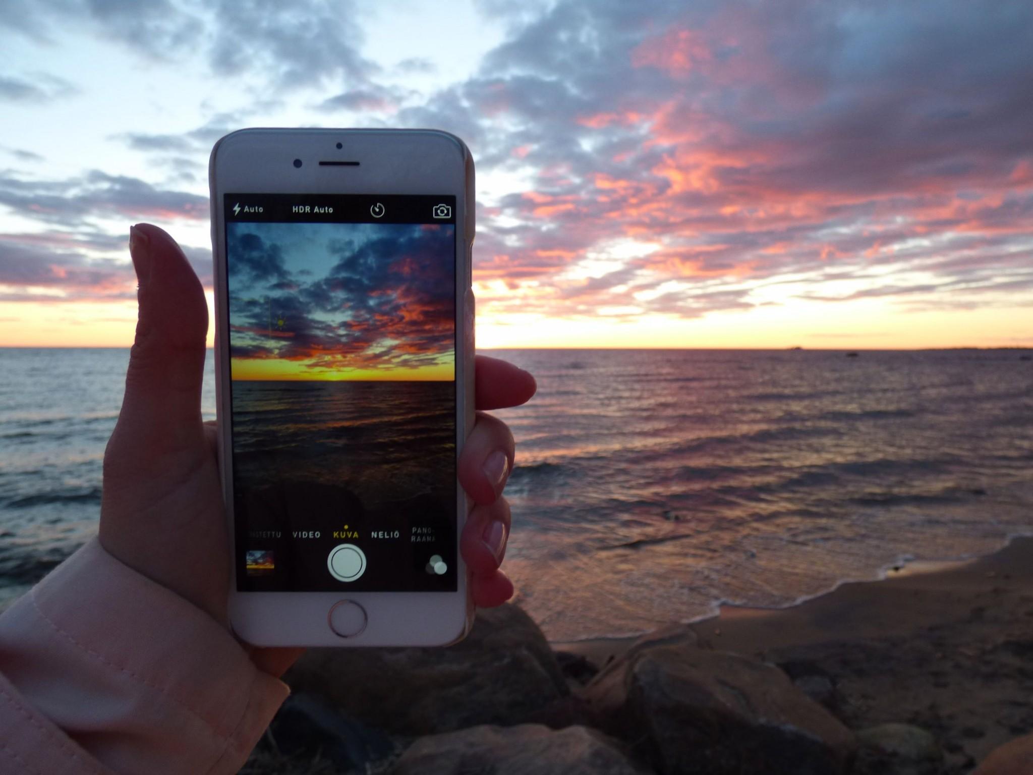 Kalajoki Hiekkasärkät auringonlasku