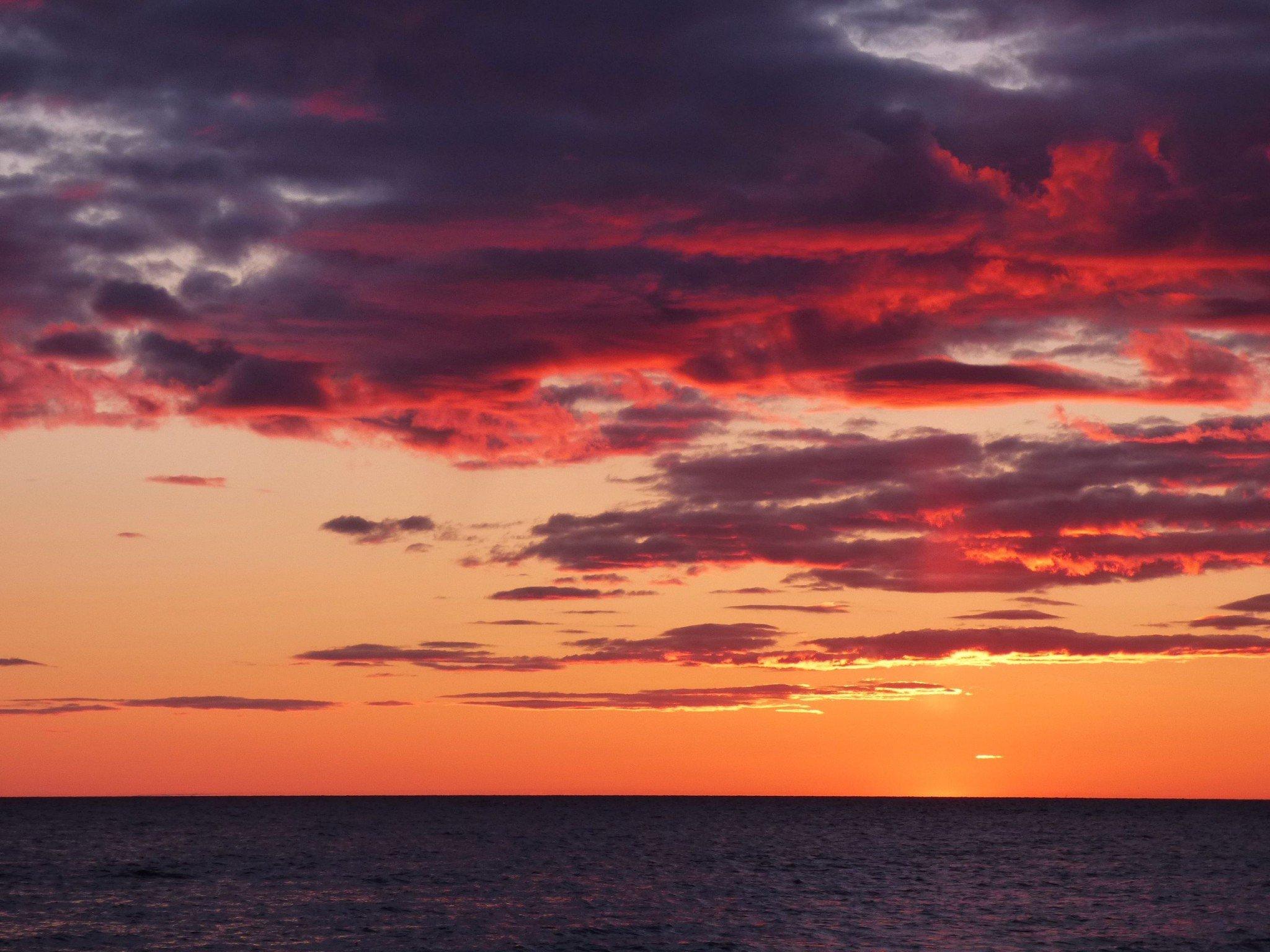 Kalajoen Hiekkasärkät auringonlasku