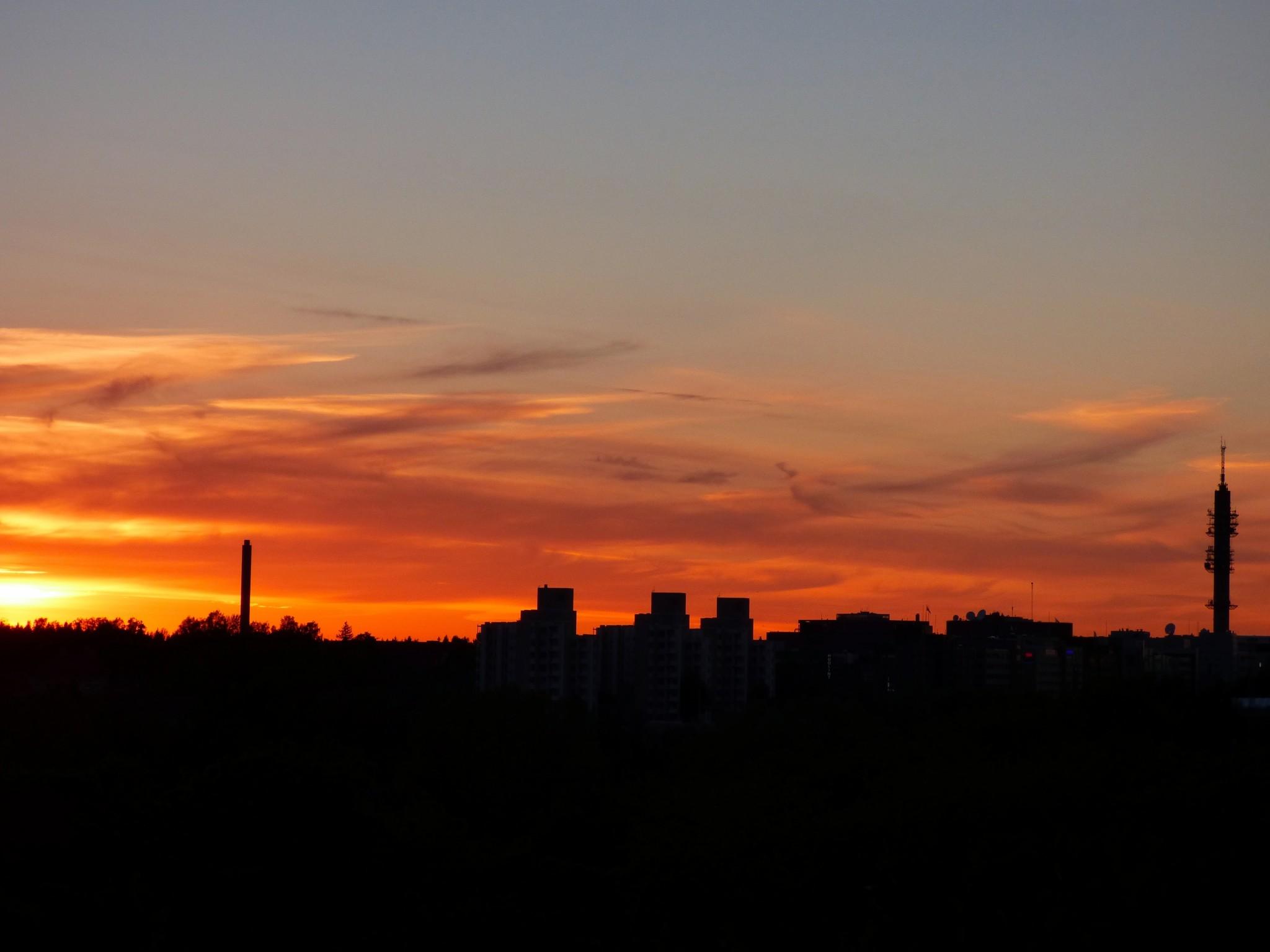 Helsinki auringonlasku