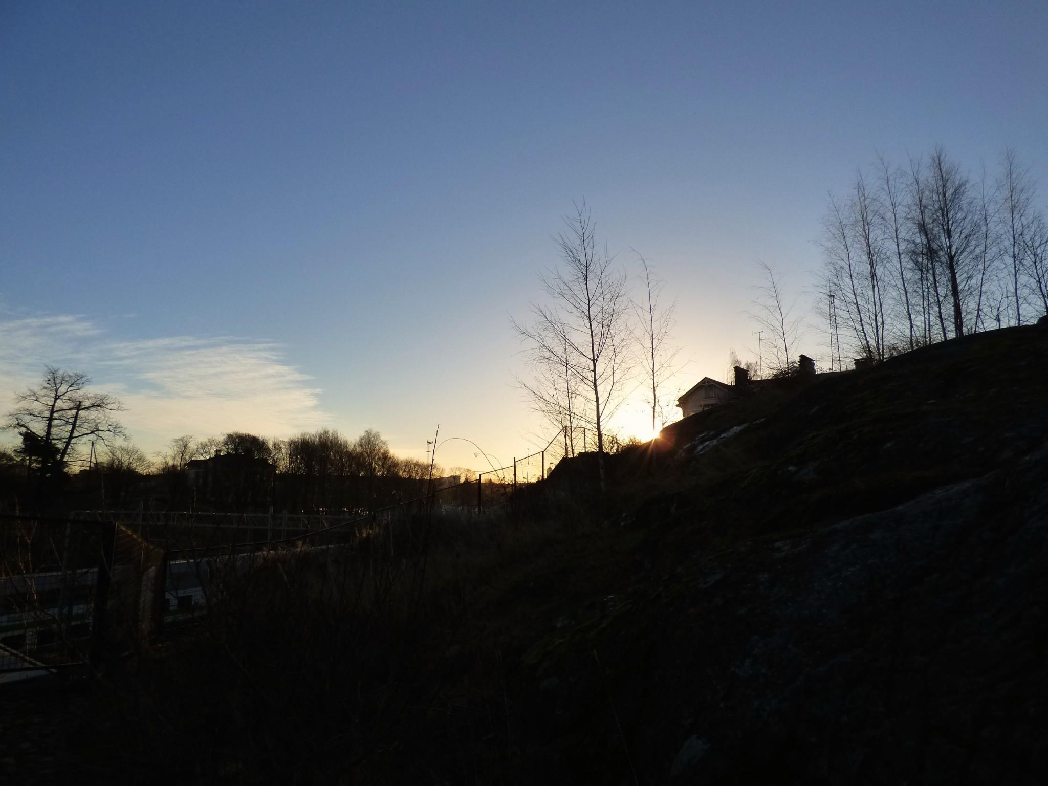 Auringonnousu Helsinki