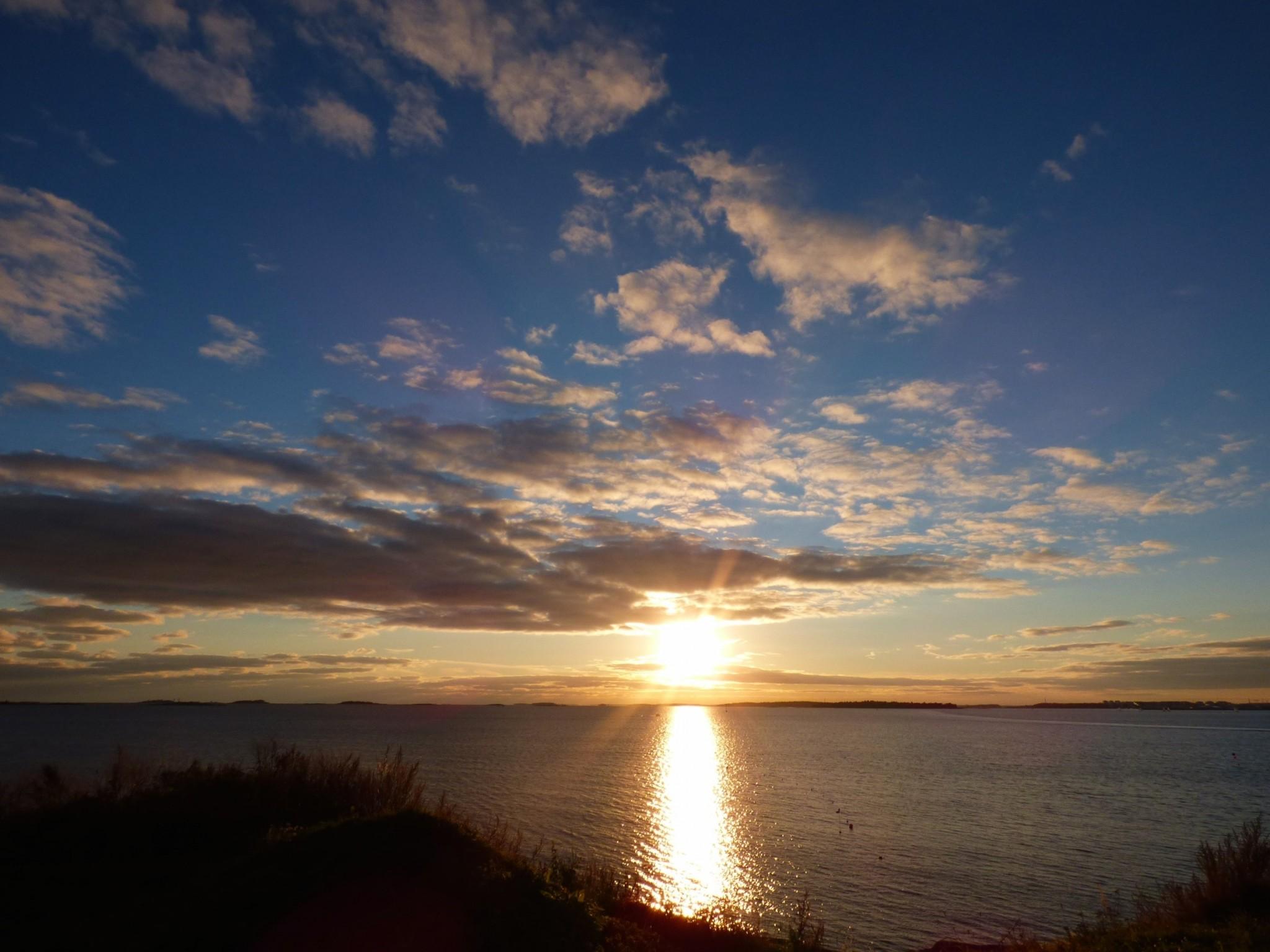 Suomenlinnan auringonlasku