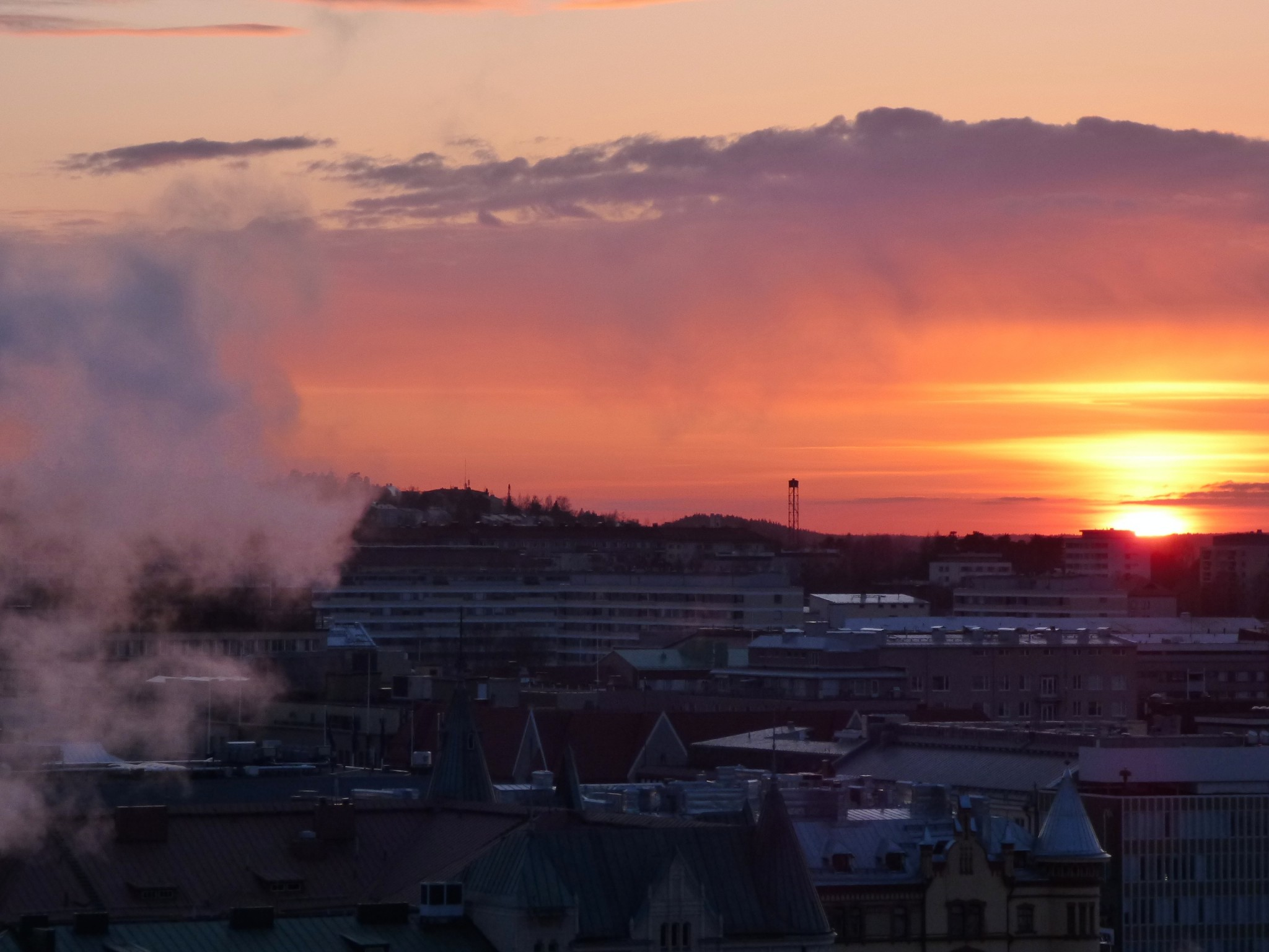 tampere sunset