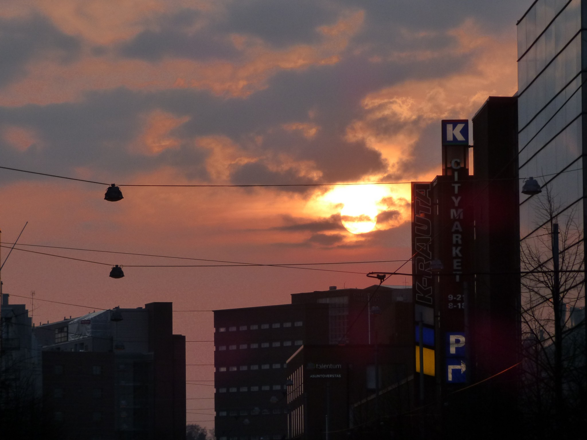 Ruoholahti sunset