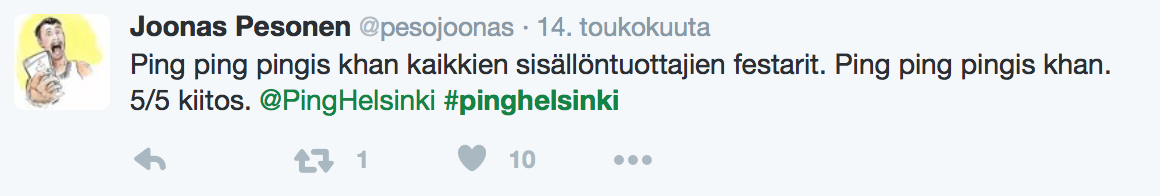Ping Helsinki
