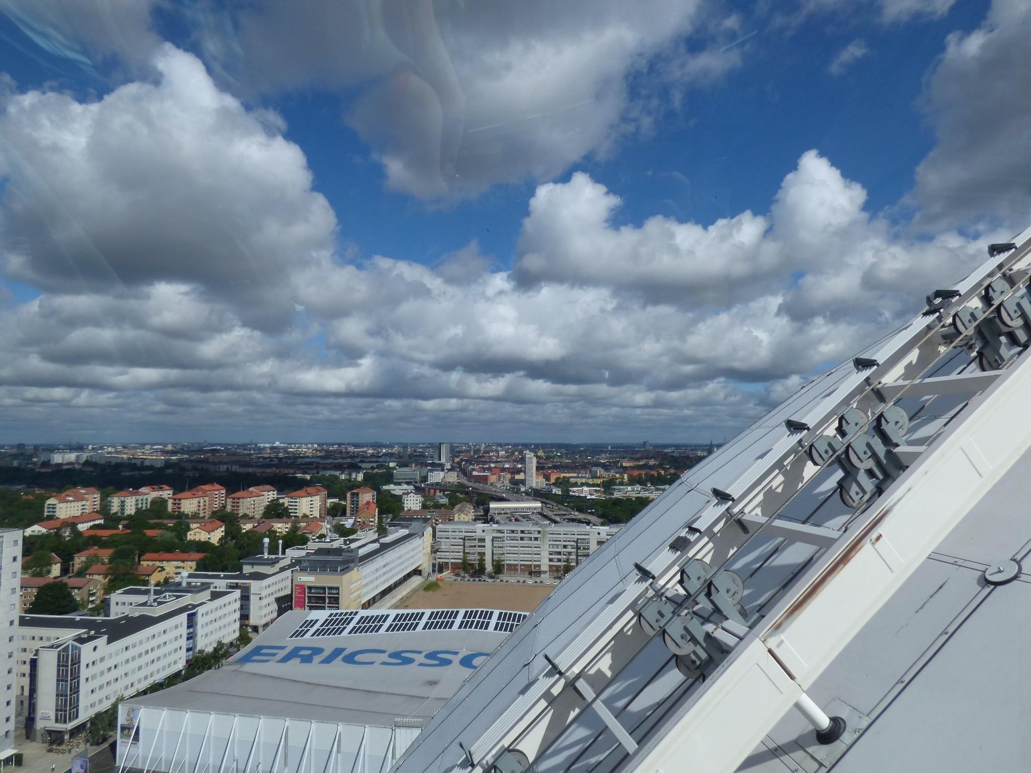 Tukholma Globen view