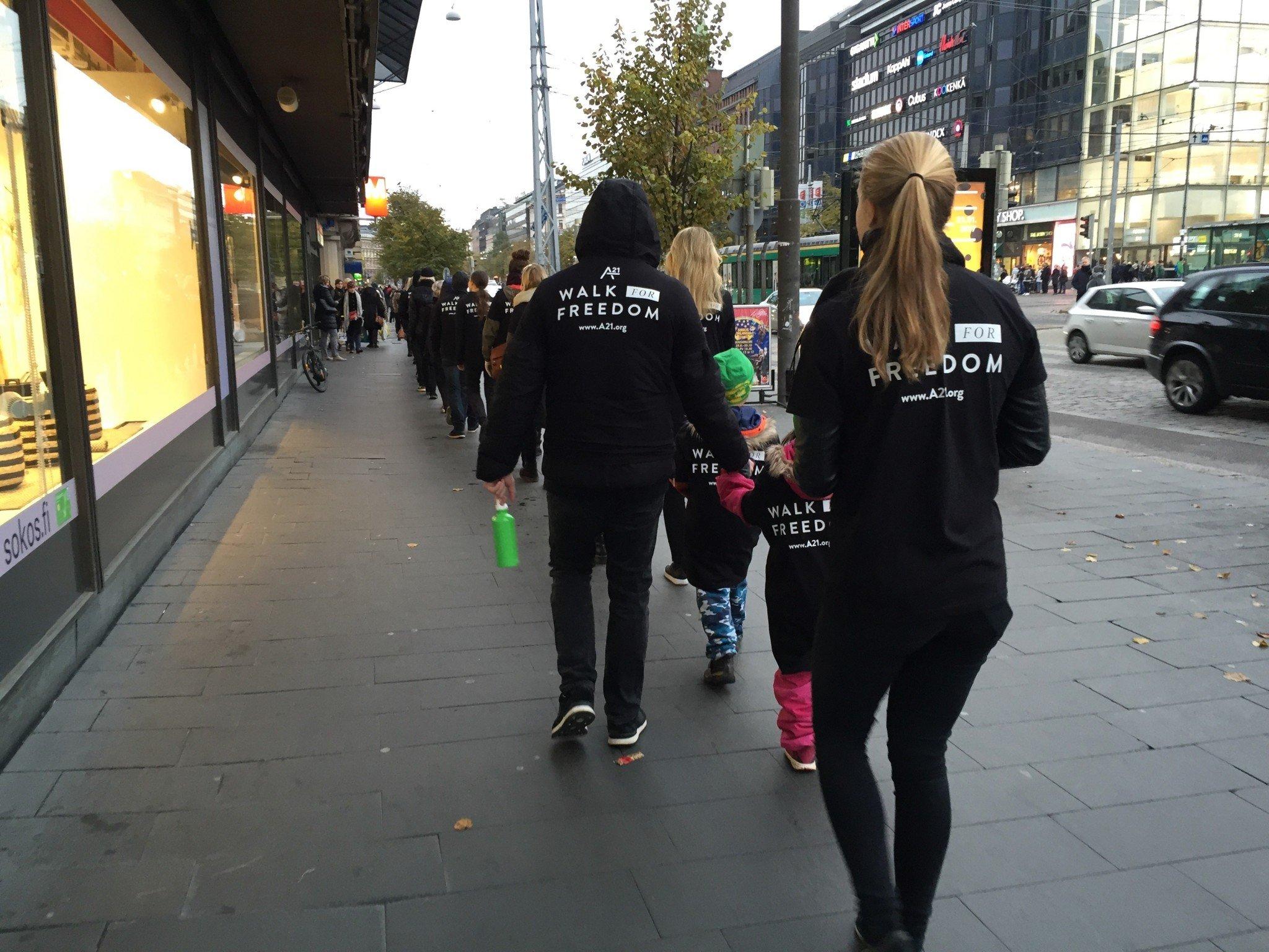 Walk for Freedom Helsinki