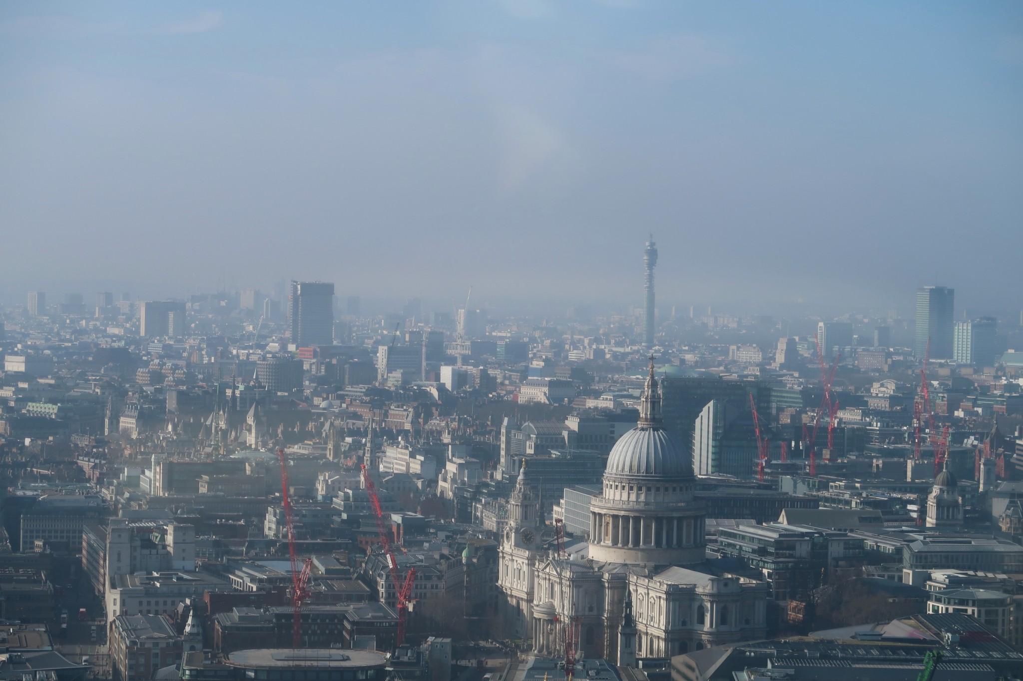Sky Garden Lontoo maisema