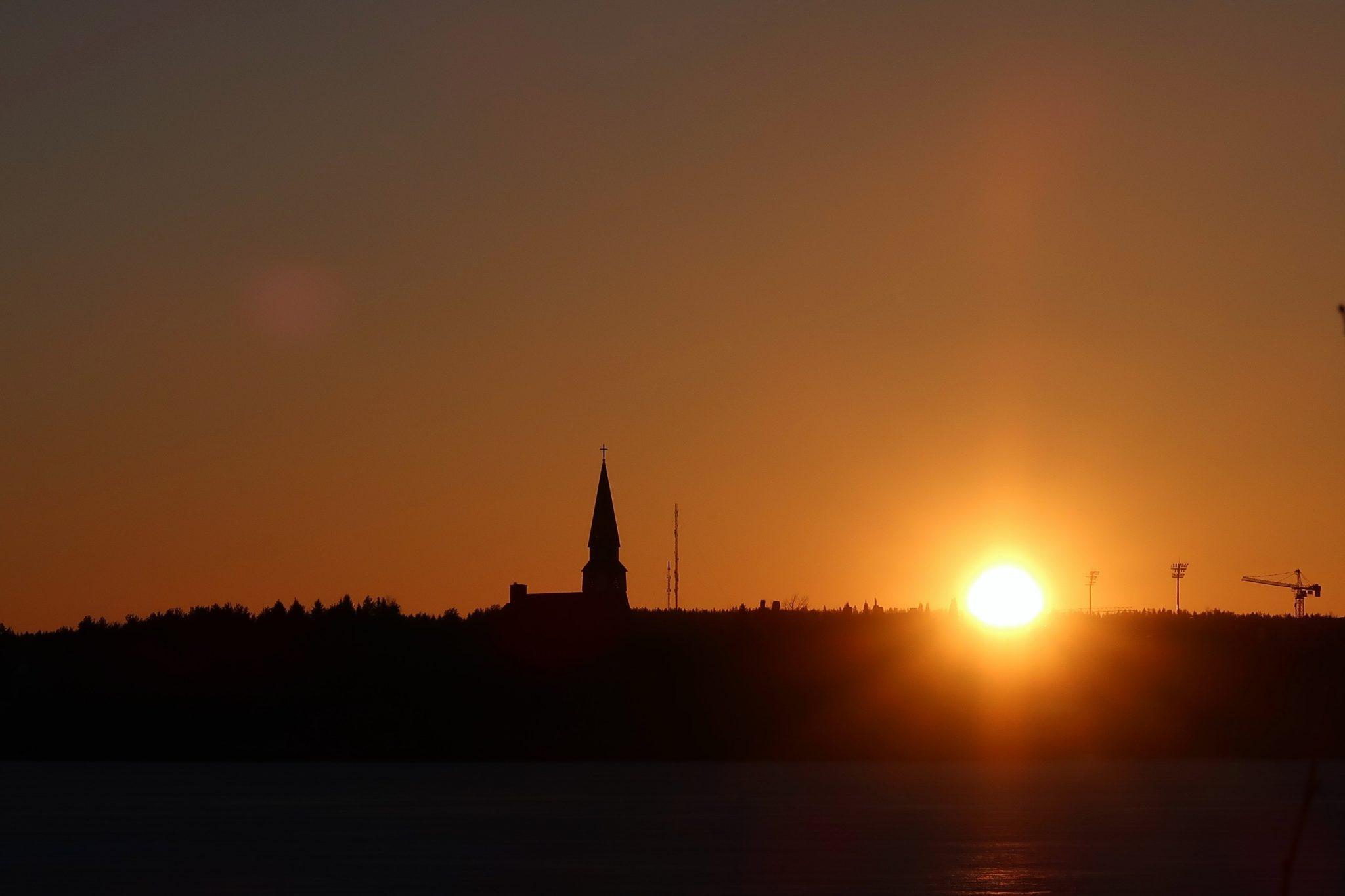 Rovaniemi auringonlasku