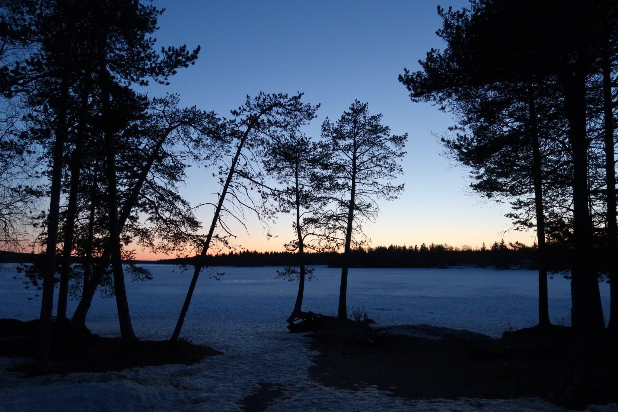 Rovaniemi keskiyön aurinko