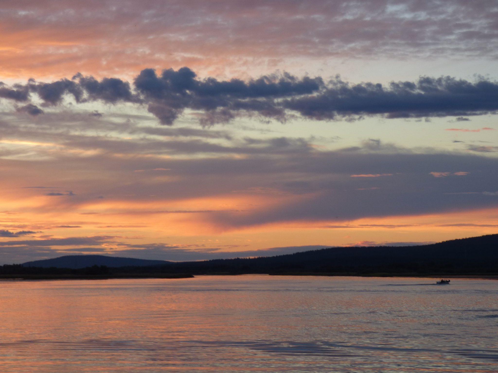 Rovaniemi Arktikum auringonlasku