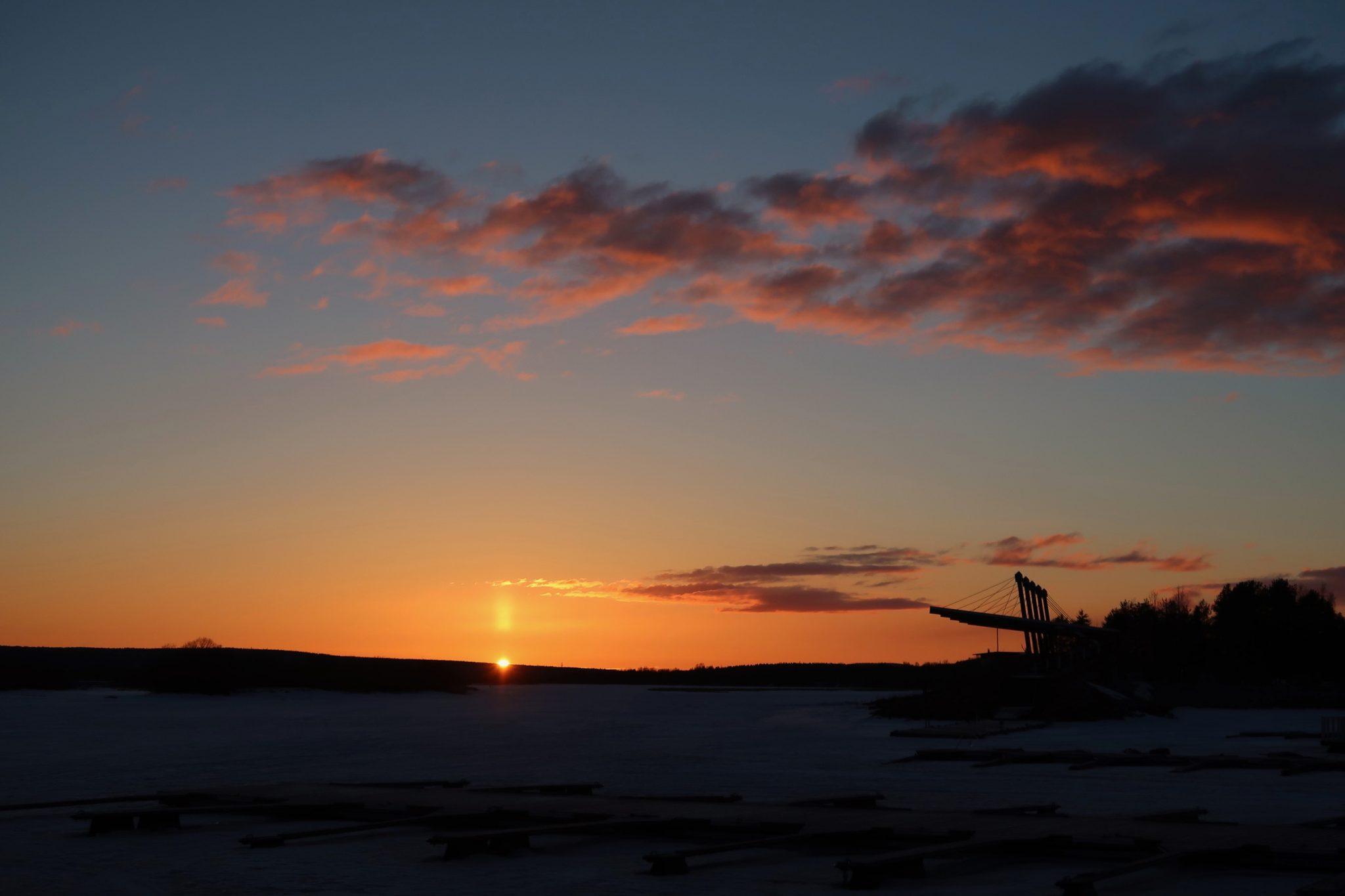 Rovaniemi Paviljonki auringonlasku