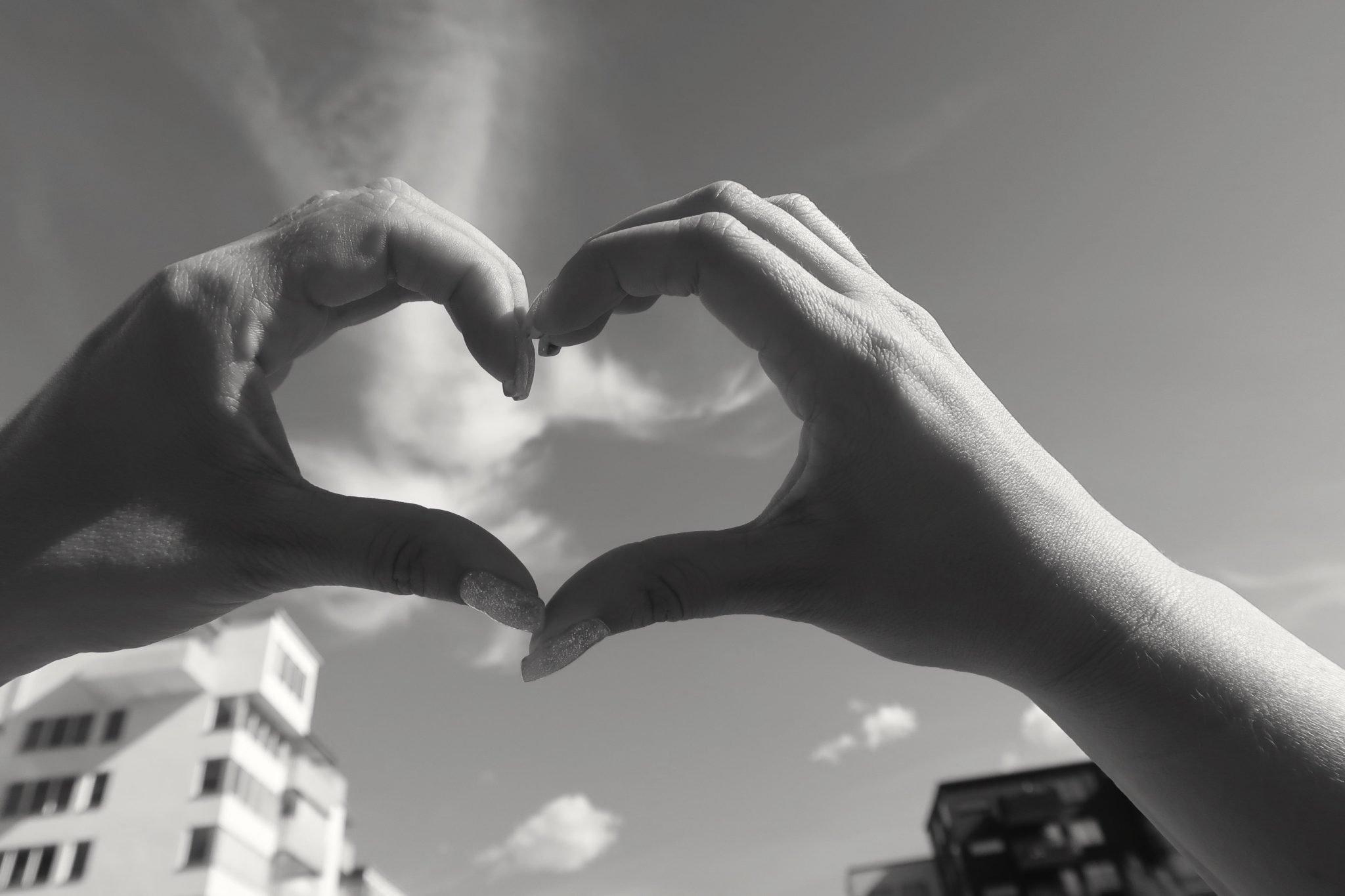 mustavalko sydän