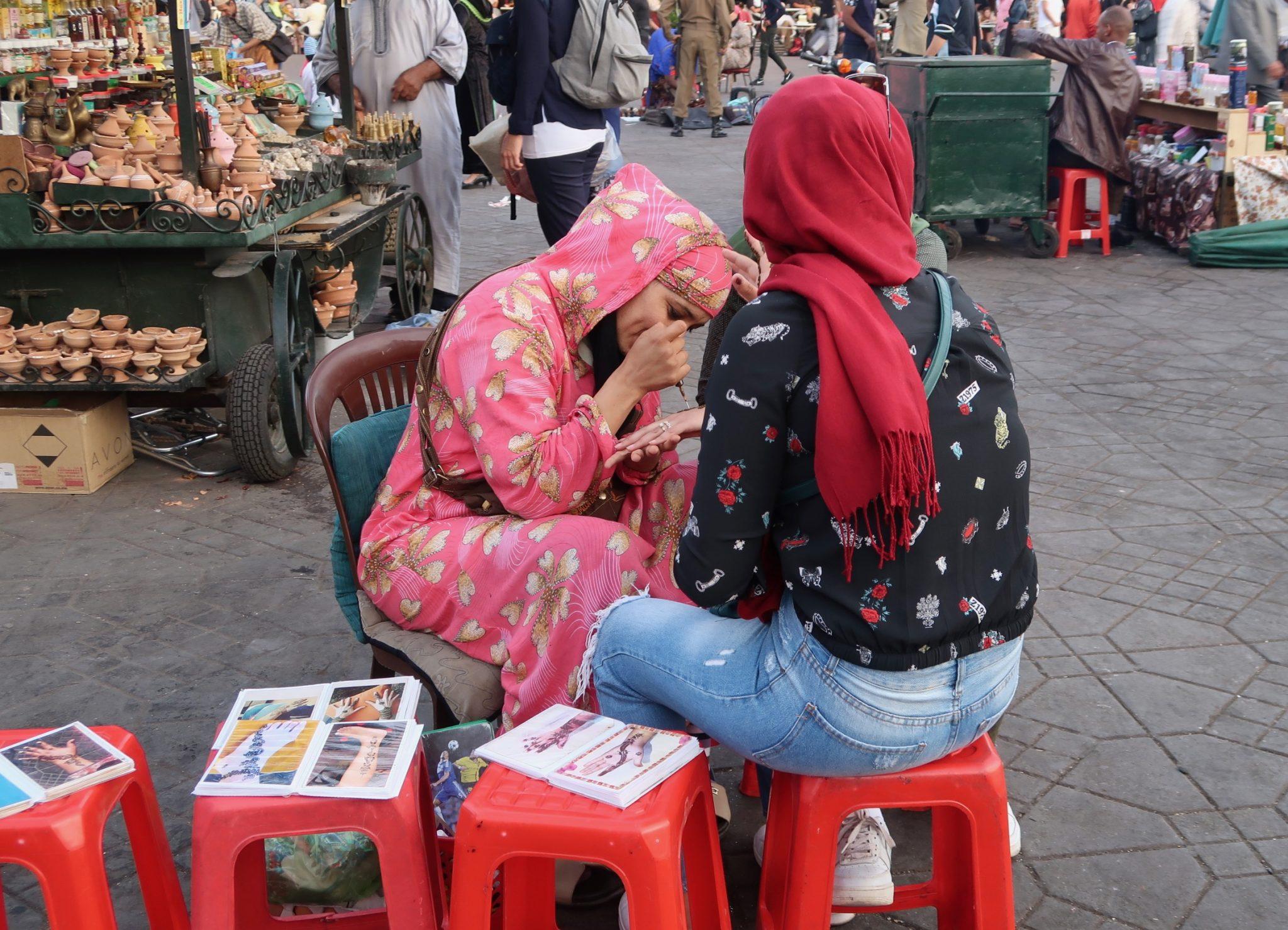 Marrakech hennatatuointi