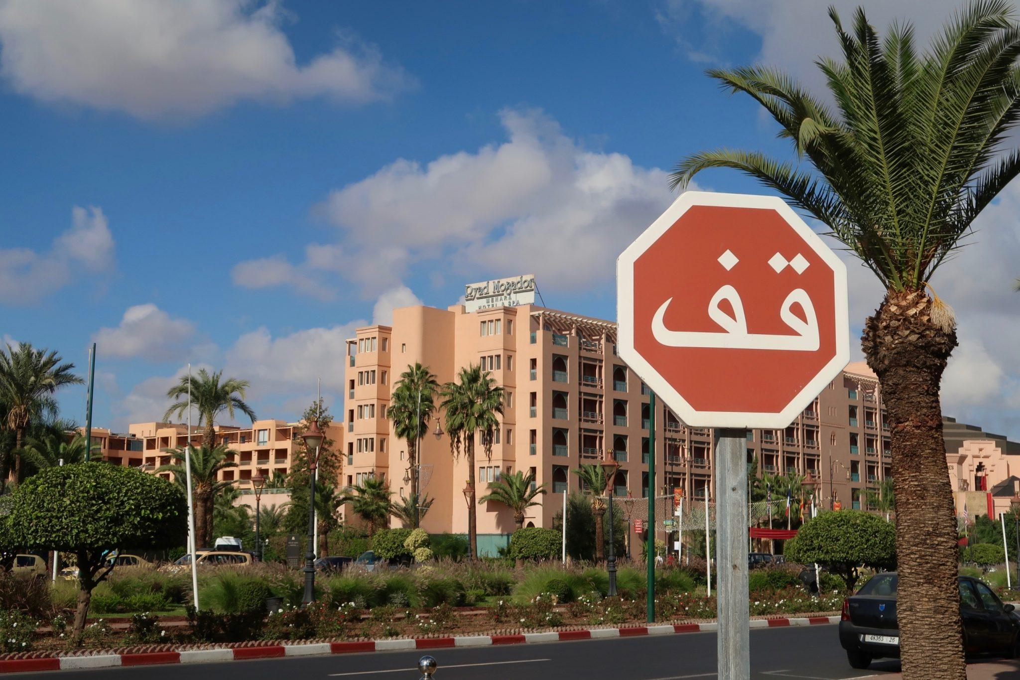 Marrakech liikennemerkki