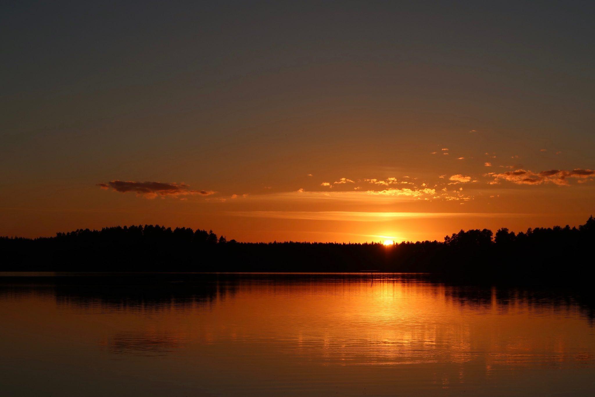 Kankaanpää Venesjärvi auringonlasku