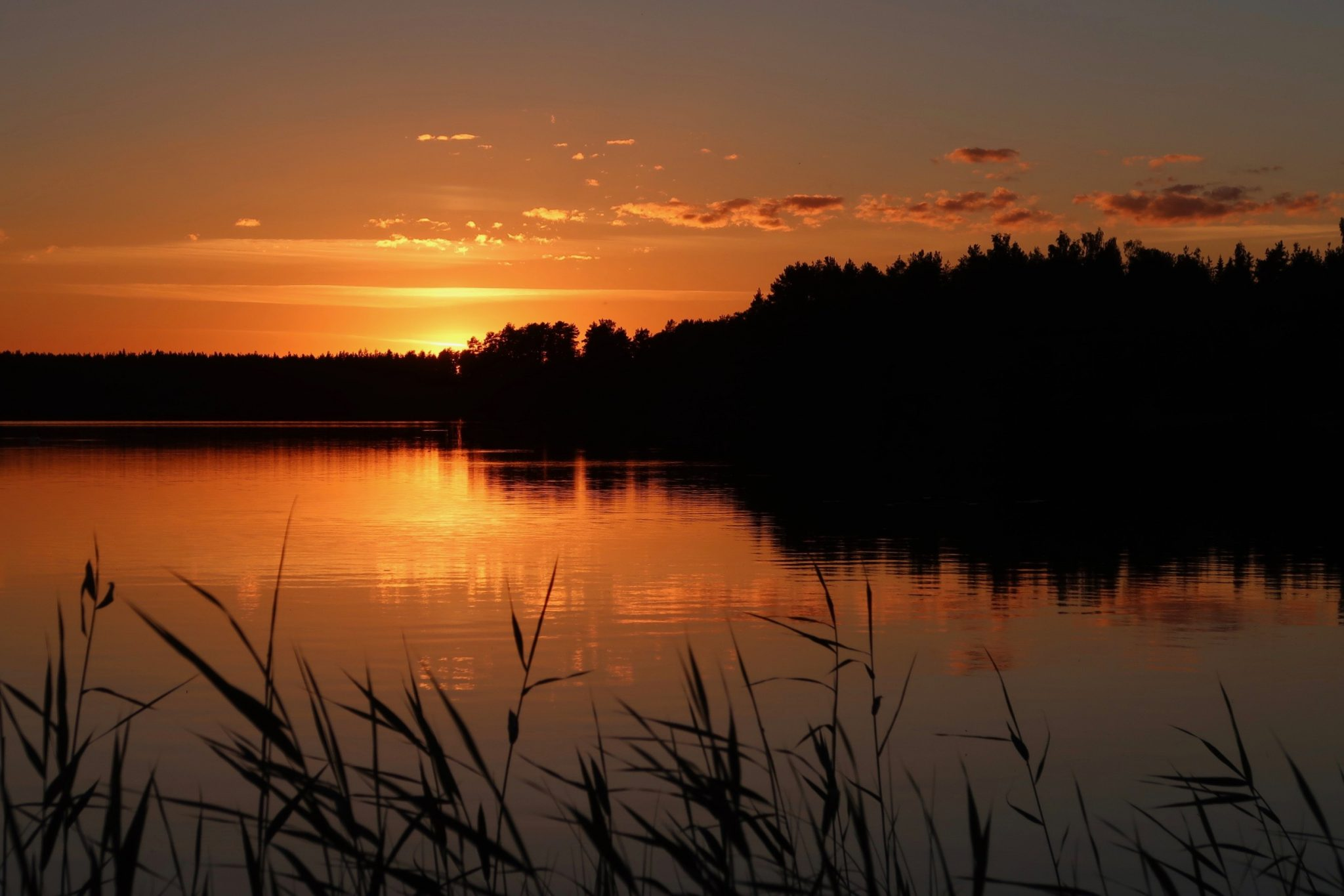 Kankanapää Venesjärvi auringonlasku