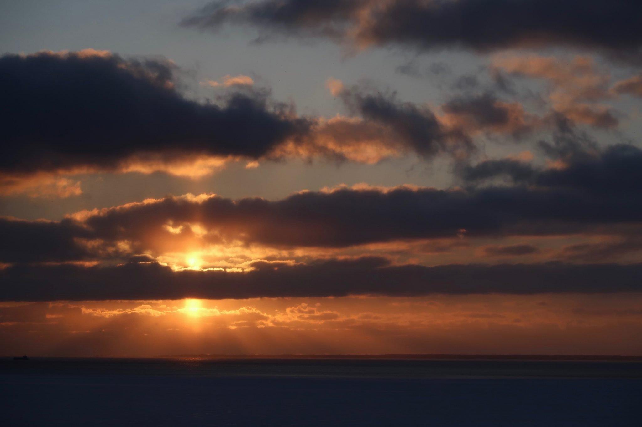 Pärnu auringonlasku helmikuussa