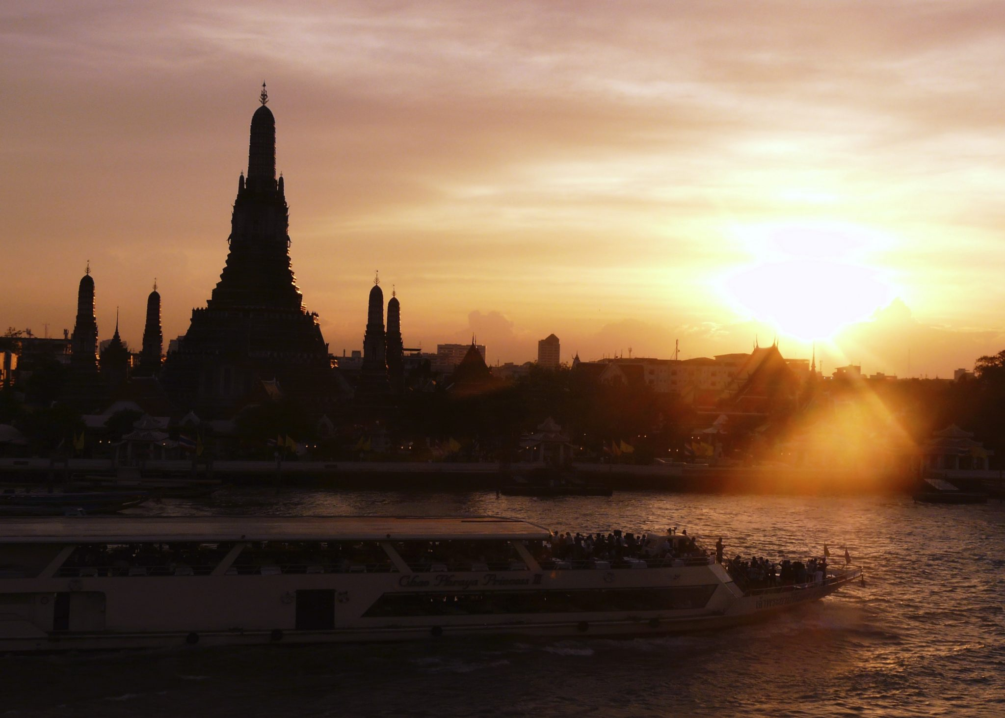 Bangkok joki auringonlasku