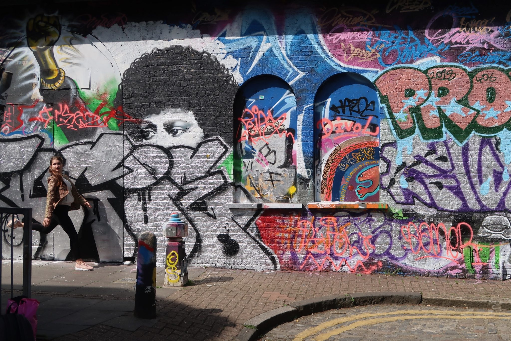 Brick Lane Lontoo katutaide
