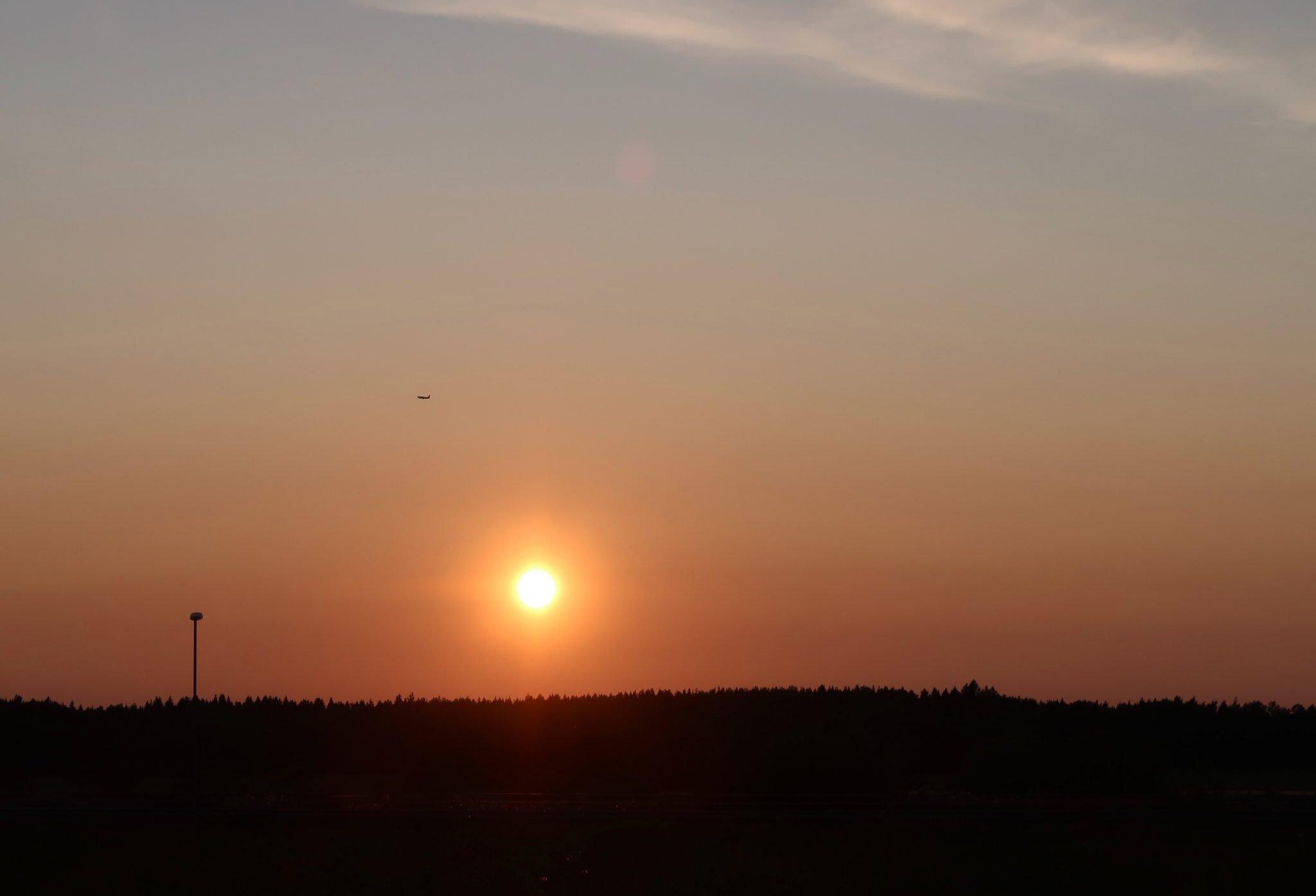 Haltiala Helsinki auringonlasku
