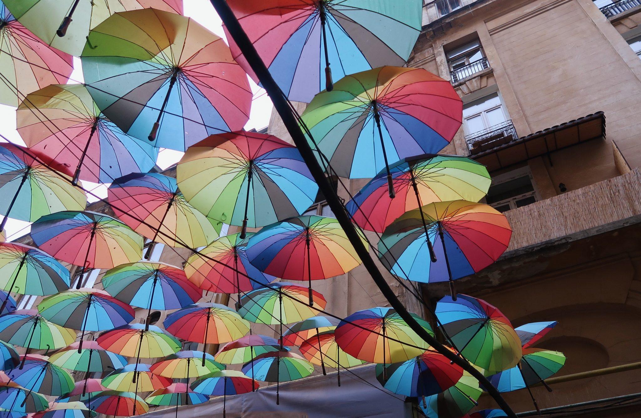 Bukarest kuuluisat sateenvarjot