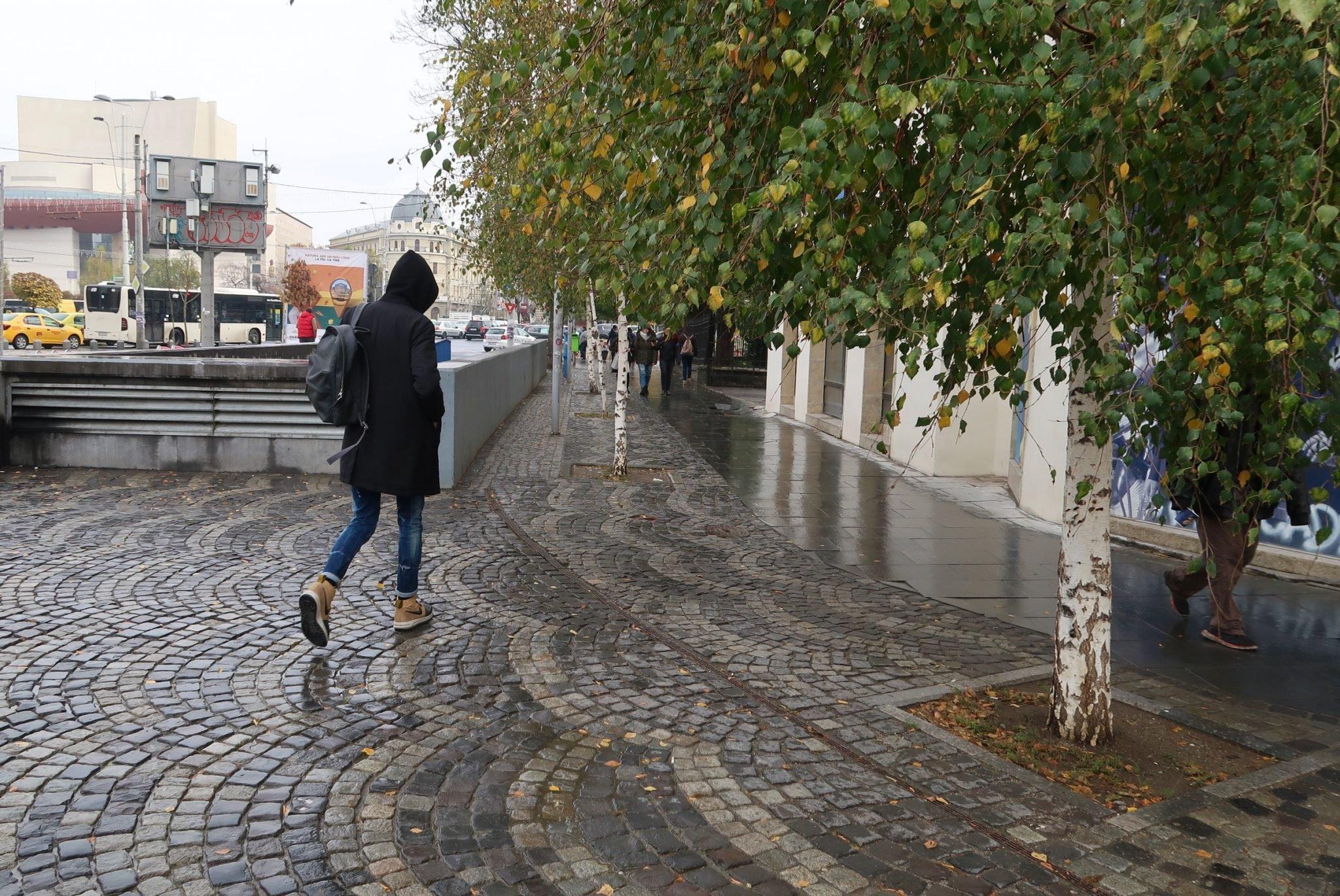 Bukarest jalankulkija