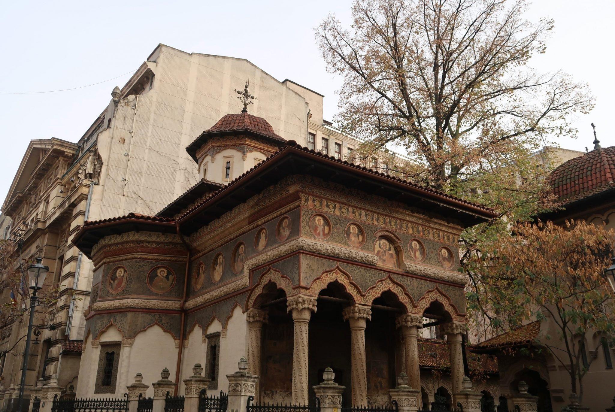 Bukarest kirkko vanhakaupunki