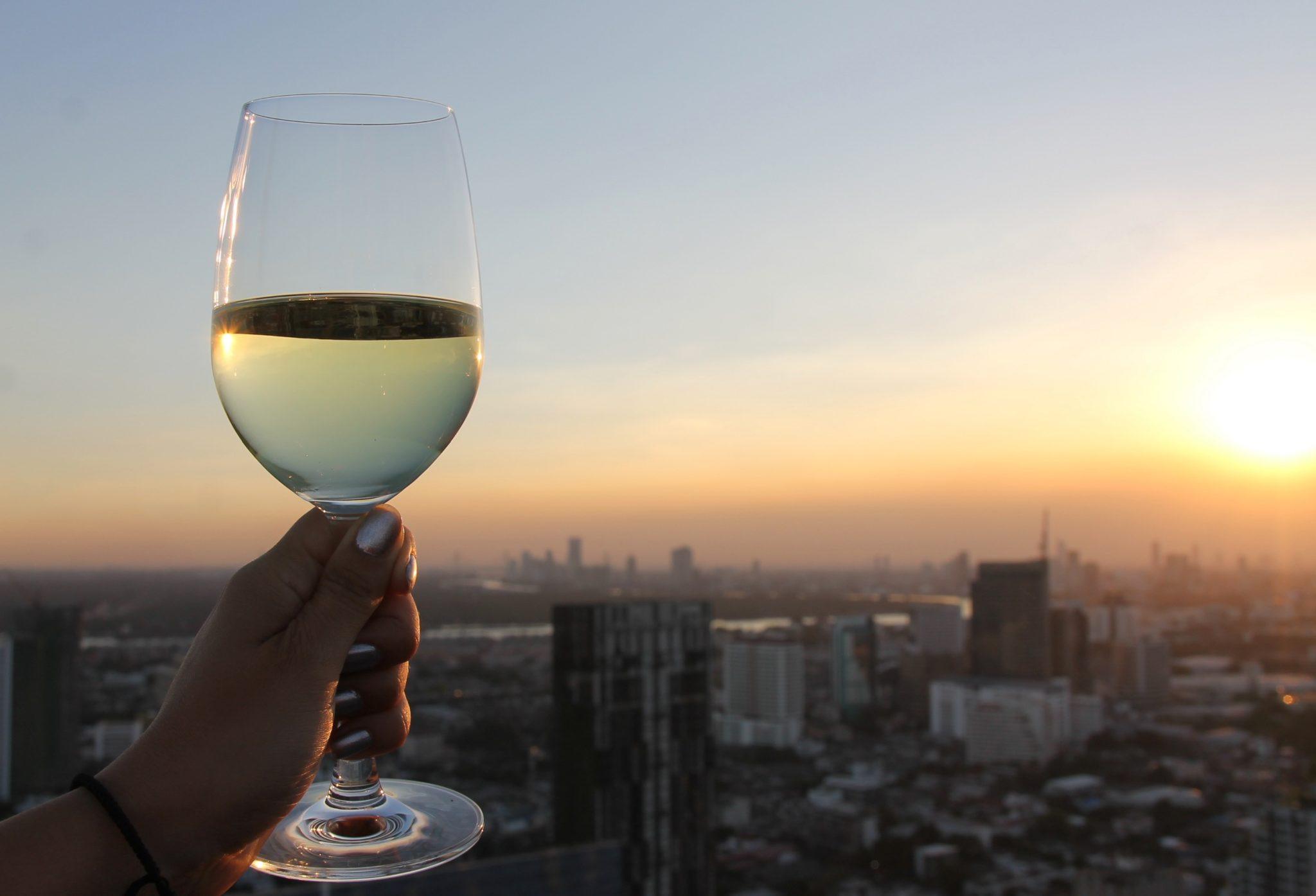 Bangkok auringonlasku