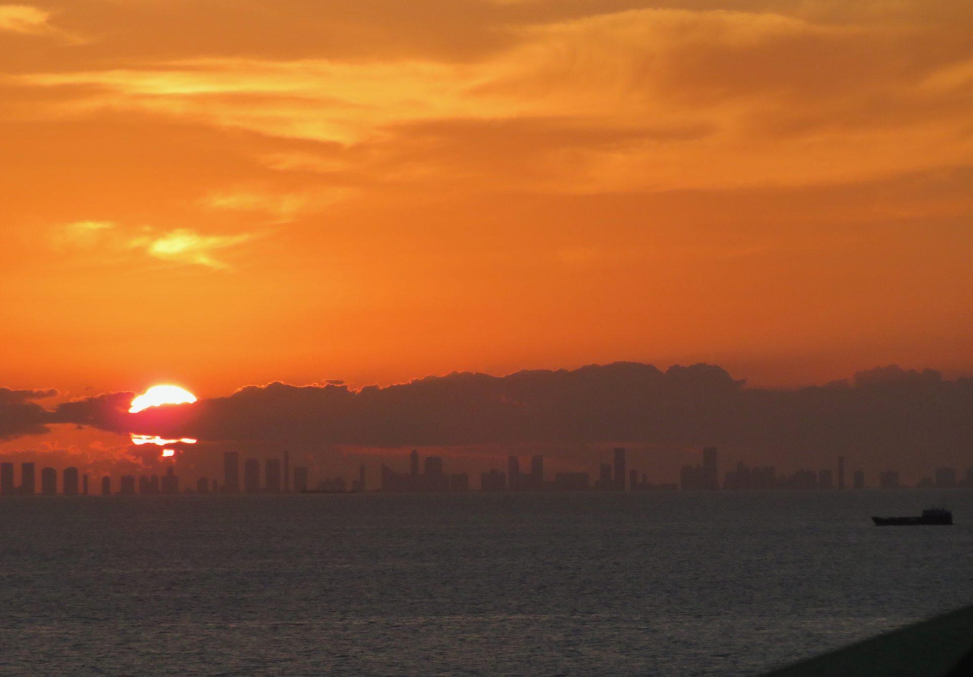 Miami auringonlasku